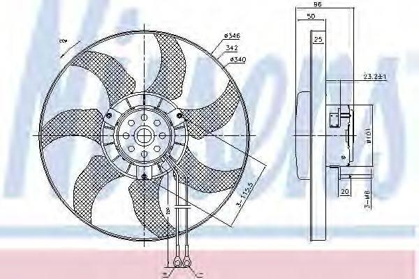 NISSENS 85802 Вентилятор системы охлаждения двигателя