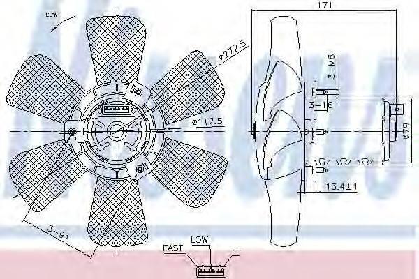 NISSENS 85809 Вентилятор системы охлаждения двигателя
