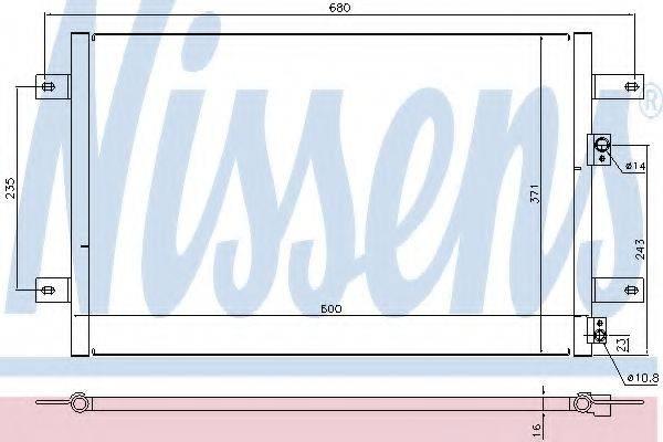 NISSENS 94251 Конденсатор кондиционера
