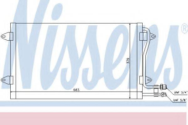 NISSENS 94258 Конденсатор кондиционера