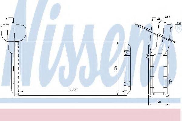 NISSENS 73965 Радиатор печки