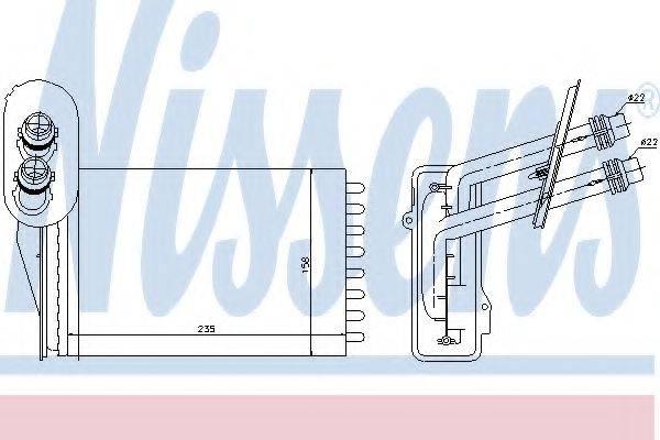 NISSENS 73850 Радиатор печки