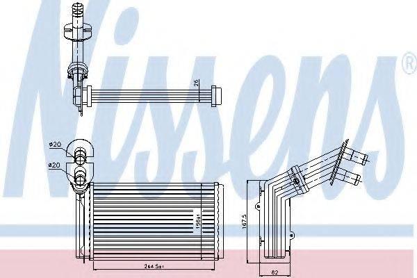 NISSENS 73973 Радиатор печки