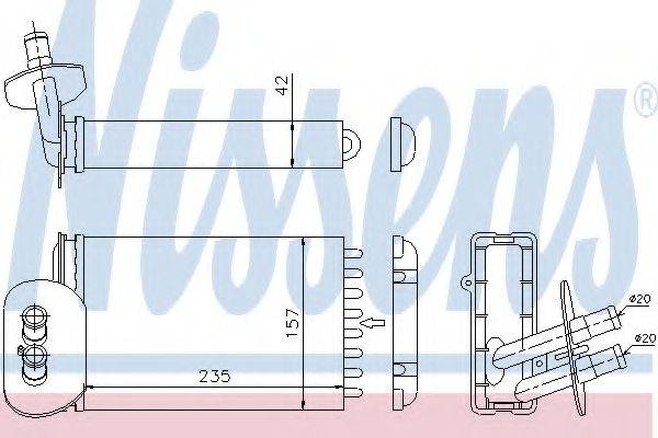 NISSENS 73977 Радиатор печки