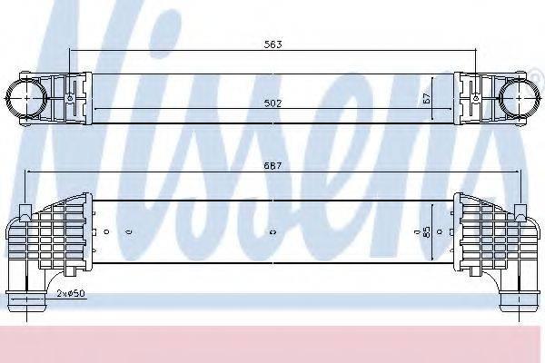 NISSENS 96750 Интеркулер