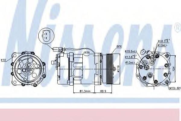 NISSENS 89021 Компрессор кондиционера