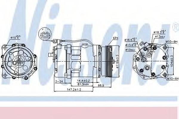 NISSENS 89025 Компрессор кондиционера
