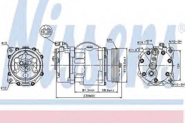 NISSENS 89040 Компрессор кондиционера