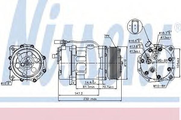 NISSENS 89117 Компрессор кондиционера