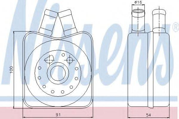 NISSENS 90606 Масляный радиатор