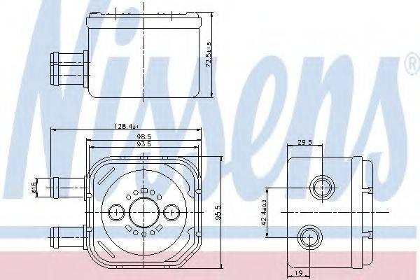 NISSENS 90652 Масляный радиатор