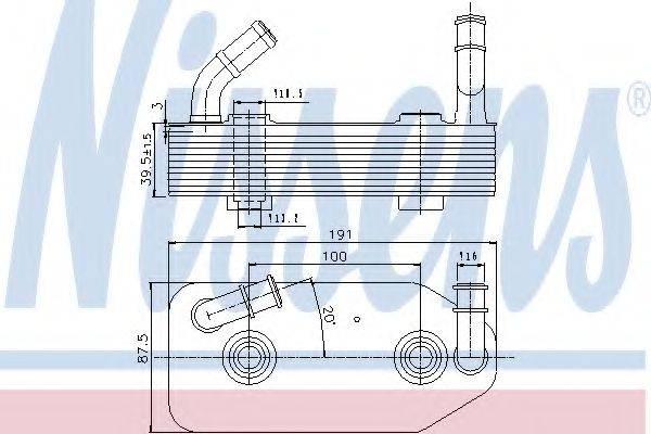 NISSENS 90667 Масляный радиатор, автоматическая коробка передач