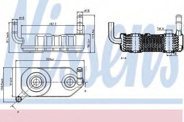 NISSENS 90708 Масляный радиатор, автоматическая коробка передач