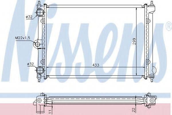 NISSENS 651721 Радиатор охлаждения двигателя