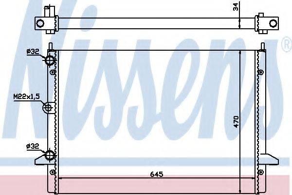 NISSENS 63992 Радиатор охлаждения двигателя