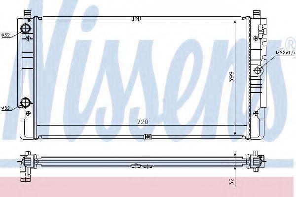 NISSENS 65238A Радиатор охлаждения двигателя