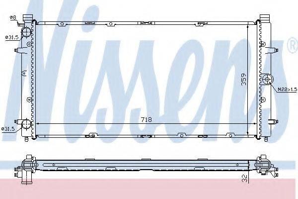 NISSENS 65273A Радиатор охлаждения двигателя
