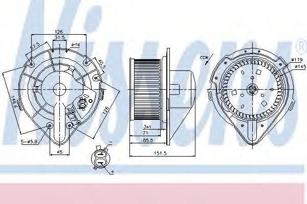 NISSENS 87066 Вентилятор салона