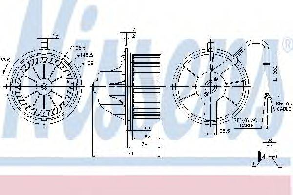 NISSENS 87068 Вентилятор салона