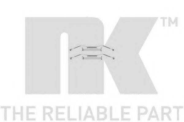 NK 7999680 Комплектующие, колодки дискового тормоза