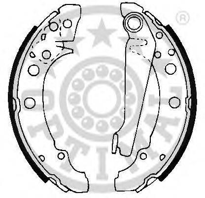 OPTIMAL BB0450 Тормозные колодки барабанные