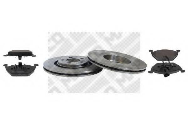 MAPCO 47857 Комплект тормозов, дисковый тормозной механизм