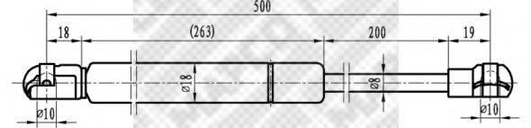MAPCO 91816 Амортизатор капота
