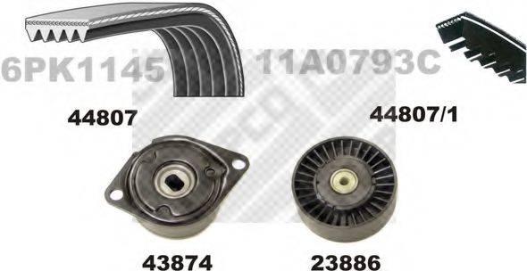 MAPCO 73807 Поликлиновой ременный комплект