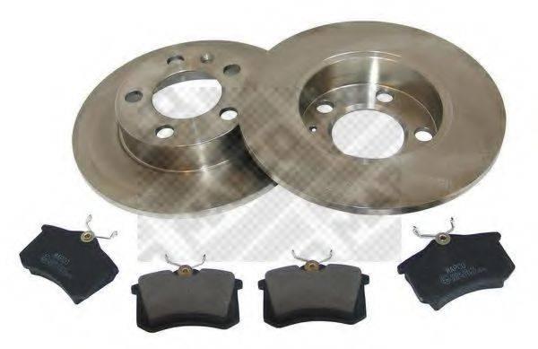 MAPCO 47858 Комплект тормозов, дисковый тормозной механизм
