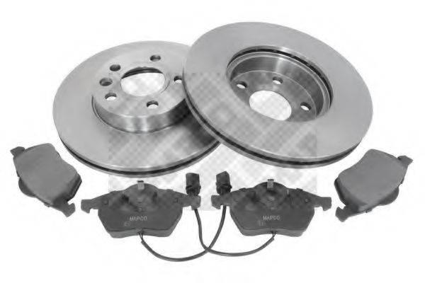 MAPCO 47669 Комплект тормозов, дисковый тормозной механизм