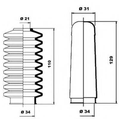 MOOG K150007 Пыльник рулевой рейки