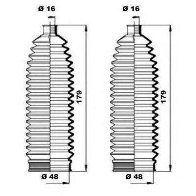 MOOG K150231 Пыльник рулевой рейки