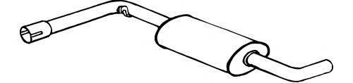 FONOS 616321 Средний глушитель выхлопных газов