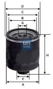 UFI 2345300 Фильтр масляный ДВС