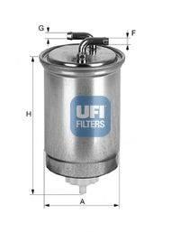 UFI 2436500 Топливный фильтр