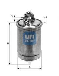 UFI 2436501 Топливный фильтр