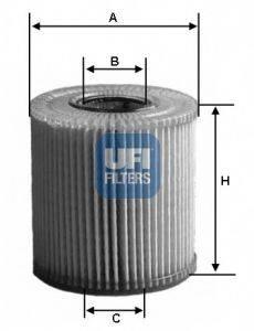 UFI 2501100 Фильтр масляный ДВС