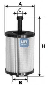 UFI 2502300 Фильтр масляный ДВС
