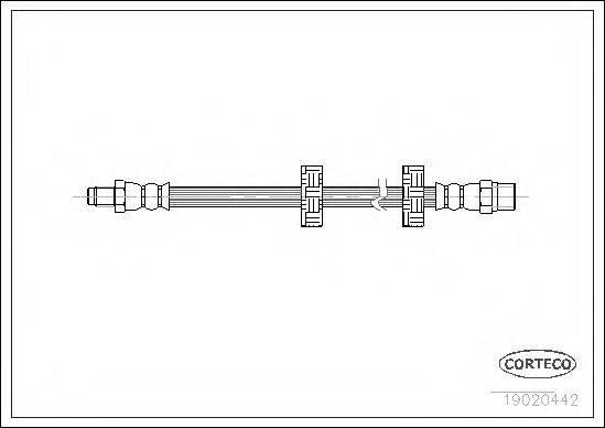 CORTECO 19020442 Тормозной шланг