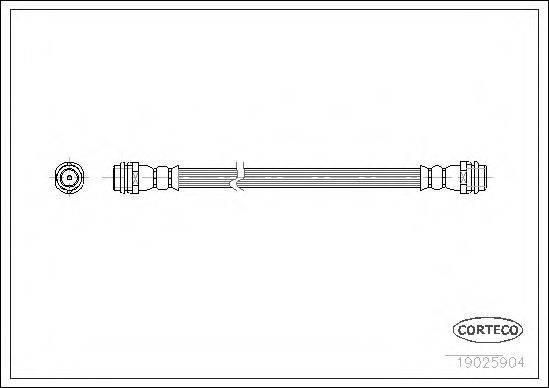 CORTECO 19025904 Тормозной шланг