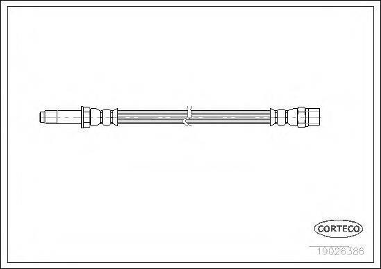 CORTECO 19026386 Тормозной шланг