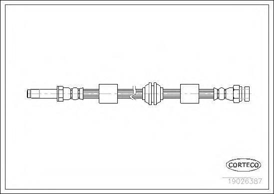 CORTECO 19026387 Тормозной шланг