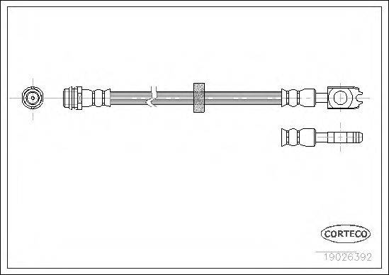 CORTECO 19026392 Тормозной шланг