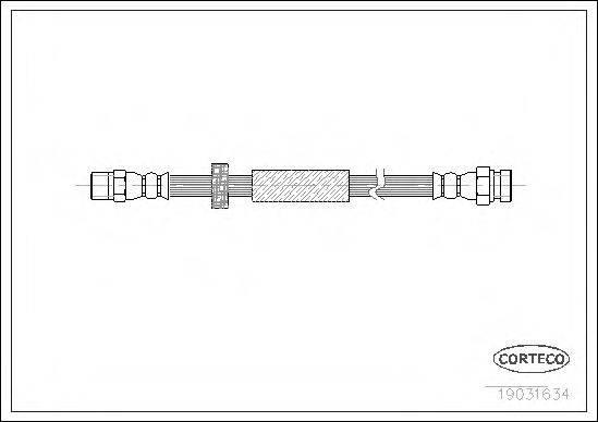 CORTECO 19031634 Тормозной шланг
