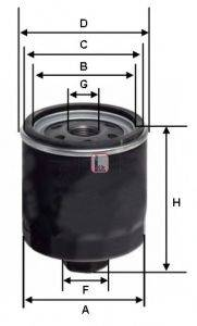 SOFIMA S1310R Фильтр масляный ДВС