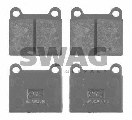SWAG 30916068 Тормозные колодки