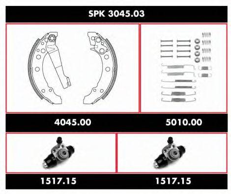 ROADHOUSE SPK304503 Комплект тормозов, барабанный тормозной механизм