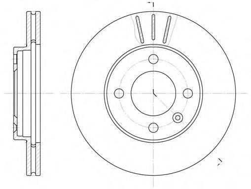 ROADHOUSE 608410 Тормозной диск