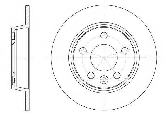 ROADHOUSE 645300 Тормозной диск