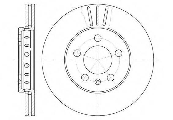 ROADHOUSE 654510 Тормозной диск